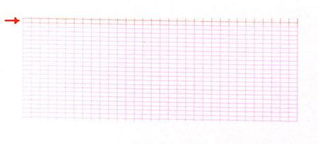 При проведении последующей тестовой печати, те участки которые имели изменённый цвет изменяли ширину и место в расположении решетки тестовой распечатки.