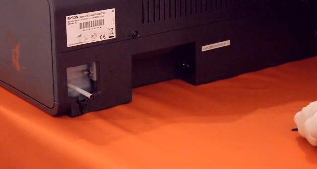Вывод трубки памперса струйного принтера Epson Stylus Photo T50
