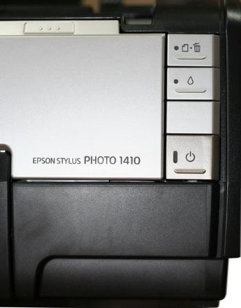 Кнопки управления струйного принтера Epson Stylus Photo 1410