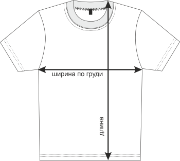 Размеры мужских футболок