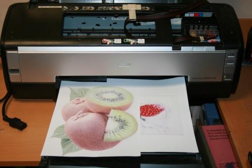 Распечатали изображение на принтере зеркально!
